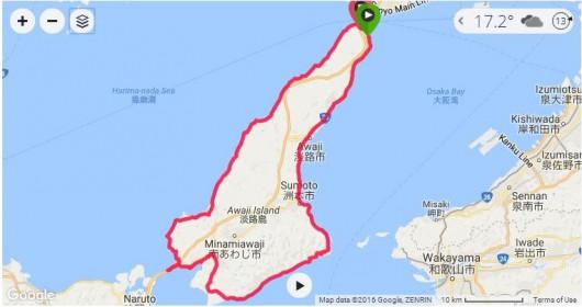 一度はチャレンジしてみたい淡路島1周約160km!ロードバイクで完全走破。
