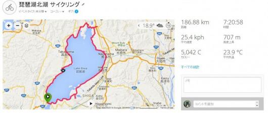 新型DOMANE SLRで琵琶湖へロングライド。